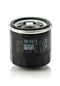 Olejový filtr MANN W67/1 - 1 ks