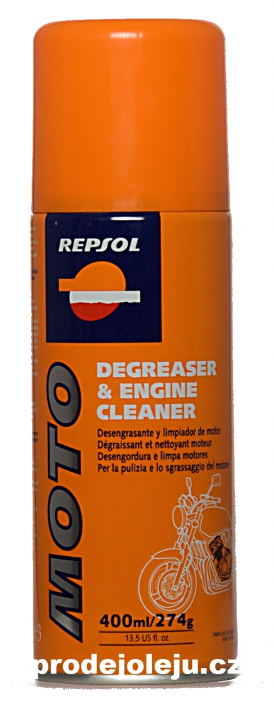 REPSOL MOTO DEGREASER & ENGINE CLEANER - 400 ml