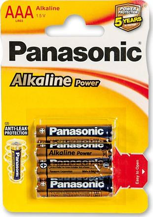 Panasonic Alkaline Power AAA 1,5 V - 4 ks