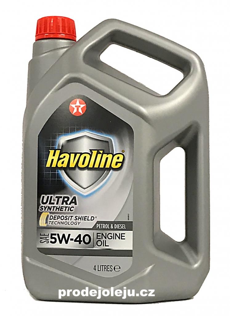 Texaco Havoline Ultra 5W-40 - 4L