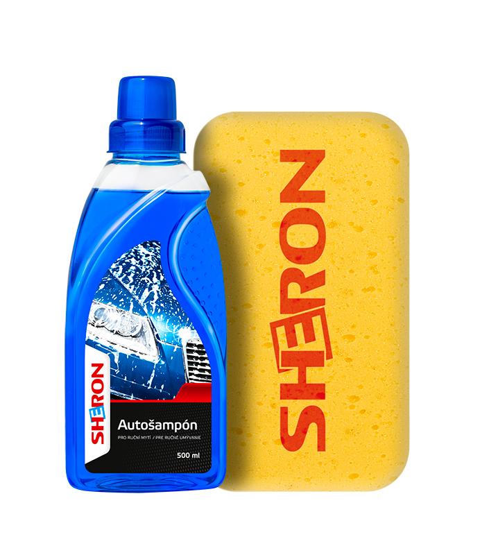 SHERON Autošampon 500 ml + houba