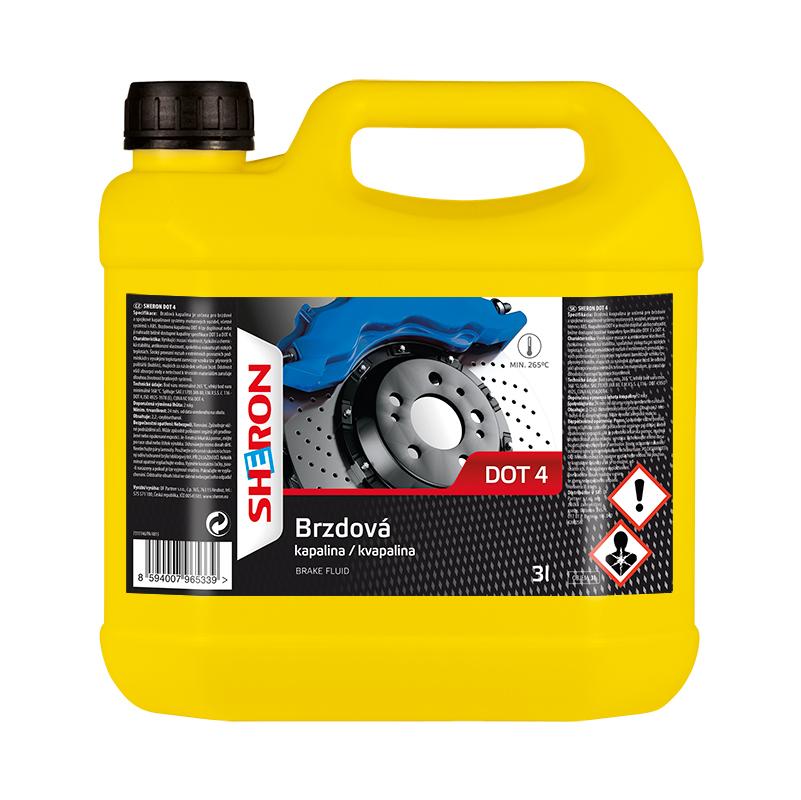 Sheron DOT 4 brzdová kapalina - 3 litry