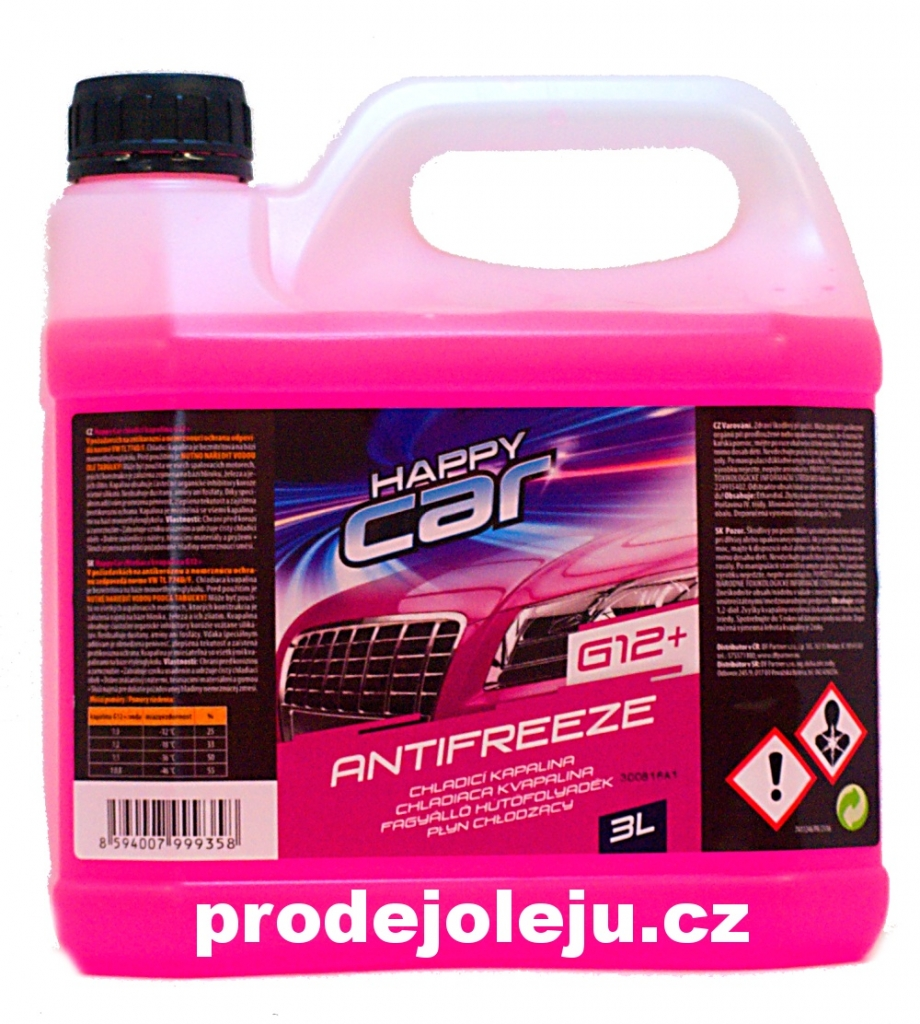 Happy Car Antifreeze G12+ TL VW 774 D/F růžový- 3L