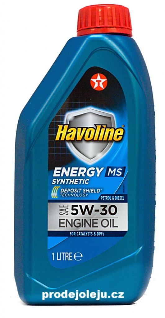 Texaco Havoline Energy MS 5W-30 - 1 litr