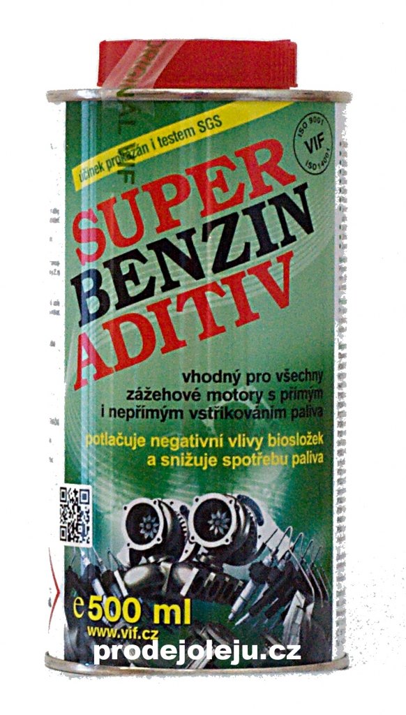 Vif super benzin aditiv aditiva do benzínu - 6x500 ml