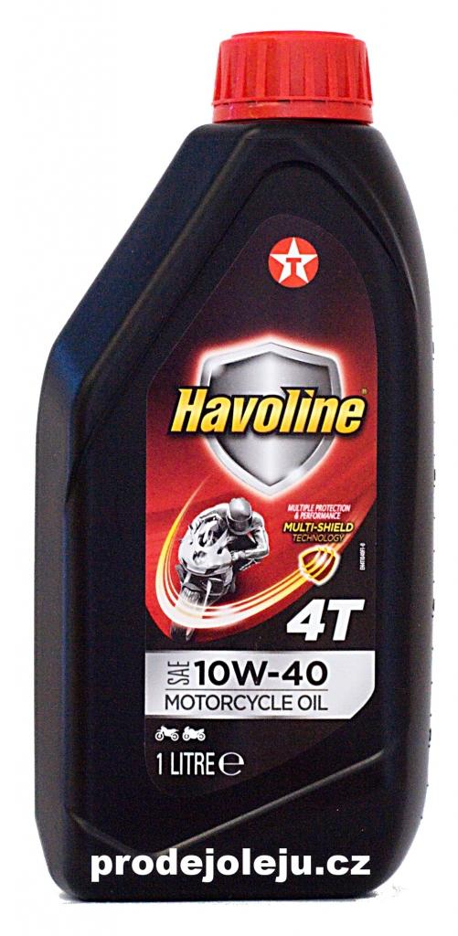 Texaco Havoline 4T 10W-40 - 4x1L