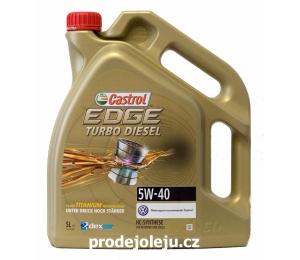 Castrol EDGE Turbo Diesel 5W-40 TITANIUM - 5L