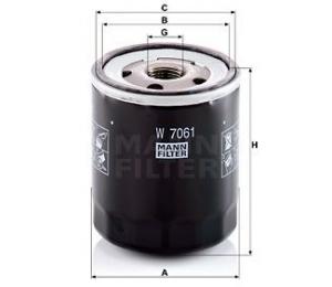 Olejový filtr MANN W7061 - 1 ks