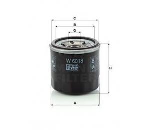 Olejový filtr MANN W6018 - 1 ks