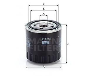Olejový filtr MANN W8013 - 1 ks