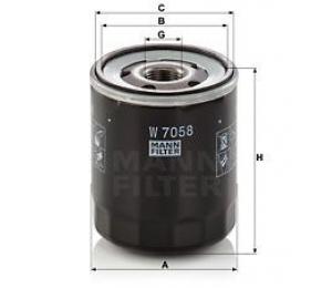 Olejový filtr MANN W7058  - 1 ks