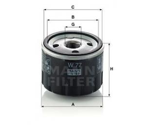 Olejový filtr MANN W77 - 1 ks